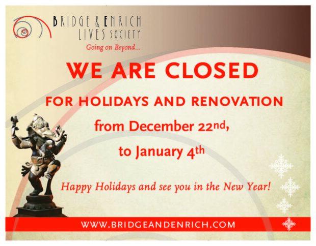 Winter Holiday Closure at BE