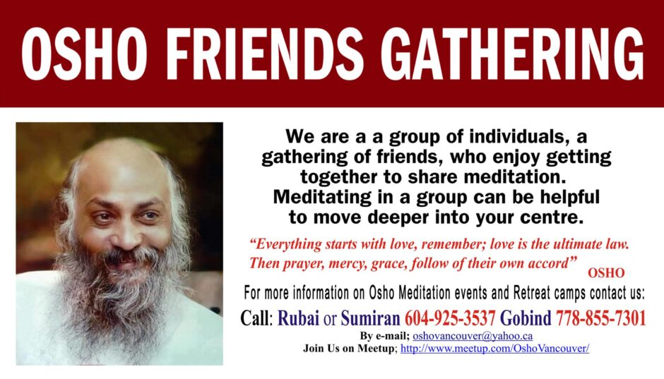 Osho Vancouver: Meditation and Workshop Leaders
