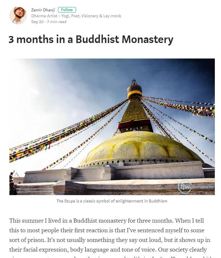 3 Months In A Buddhist Monastery Bridge Enrich Lives Society